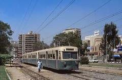 Heliopolis 1107 Midan Osman Ibn Affan (Guy Arab UF) Tags: cars car set three al metro egypt tram cairo 1989 streetcar trams bogie ibn 1107 osman midan heliopolis affan qahirah semaf