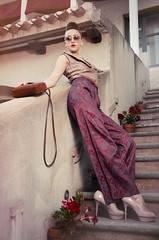 (Loredana Lavino) Tags: flowers portrait color art beautiful make up fashion rose vintage hair photography photo donna model nikon moda style sguardo sole trucco d7000