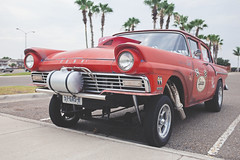 Hot Rod (juan_ozuna) Tags: auto road red classic car racetrack speed track fast tire headlights racing retro grill demon parked nitro gasoline derby