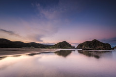 Stillness in time (Nick Twyford) Tags: longexposure sunset sea newzealand seascape blacksand nikon wideangle cliffs auckland nz northisland westcoast whatipu leefilters 1024mm d7000 lee09nd lee06gndsoft