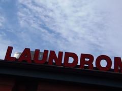 Laundromat (Limmel) Tags: sky sign dc washington neon olympus laundry laundromat robinson limmel sp810uz
