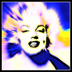 Marilyn Monroe Abstract Photo - Edited by STEVEN CHATEAUNEUF - July 23, 2013 and July 27, 2013 (snc145) Tags: blue portrait