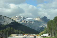 Bridge  construction with a view (D70) Tags: road park bridge lake snow canada mountains rockies construction highway with view rocky glacier louise national alberta banff transcanada icefield