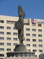 Cuauhtemoc and the Camino Real (mexicovisitor) Tags: tijuana cuauhtemoc statue zonario tijuanastatue tijuanahotel bajacalifornia
