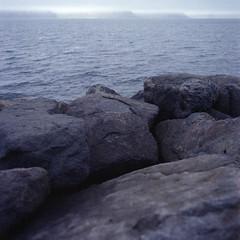 Patreksfjordur (erikakerika) Tags: blue 6x6 film fog mediumformat square grey iceland europe hasselblad westfjords hasselblad500cm colorfilm patreksfjordur westiceland fujifps160