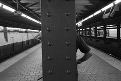 Simon Says....  9/2/2013 (Susan NYC) Tags: nyc newyorkcity subway waiting ss platform bkp bk mpc mws 125thstreet handsonhips bkp25