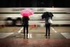 Waterfront Station (. Jianwei .) Tags: street urban wet vancouver umbrella downtown mood candid sony streetlife slowshutter waterfrontstation 雨伞 kemily nex5