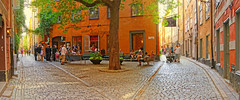 "Stockholm ""Gamla Stan"" (Charn High ISO Low IQ) Tags: summer panorama cafe afternoon sweden stockholm citylife bistro gamlastan lovely scandinavia citycenter oldtown touristattraction walkingstreet canon6d"