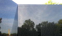 Maya Lin, Vietnam Veterans Memorial, detail at center