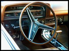Ford Torino GT Dash (Dusty_73) Tags: auto cruise classic ford car wheel night vintage torino steering muscle interior cleveland engine dash fresno gran 1970 gt 70 speedometer v8 musclecar 351 chubbys