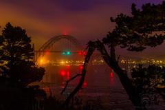 Night light in Newport Oregon