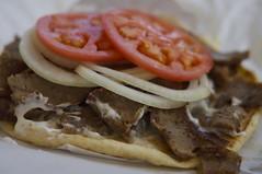 Gyros (tsearcher2011) Tags: park food dog tomato illinois oak beef fast tasty gyros onions lamb pita