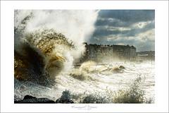 waves in the city (Emmanuel DEPARIS) Tags: mer storm france beach nikon flickr plage flic tempete digue d4 wimereux deparis