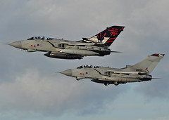 Pairs Departure (np1991) Tags: uk scotland force conversion pair air royal reserve 15 tornado raf moray unit squadron lossiemouth ocu sqn lossie gr4 operational xvr