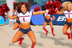 IMG_8869 (grooverman) Tags: plaza game sexy canon eos rebel football nice texas cheerleaders legs boots stadium nfl houston t3 dslr budweiser texans pregame reliant 2013