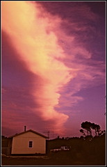 Front (Rubio-Martinez) Tags: trees sunset sky cloud house building tree film window leaves architecture denmark evening sand fuji front aerial vehicle fujica greatsouthern fujicast701 st701 quantumentanglement fujinon28mmf35