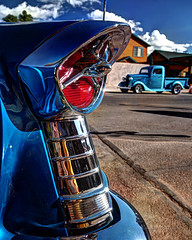 Awesome Taillight in HDR (eoscatchlight) Tags: blue arizona classiccar williams hdr taillight