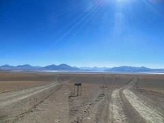 Route choice near the Salar de Chalviri
