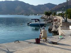 Morning fishing (Annki12) Tags: fishing greece dodecanese livadia