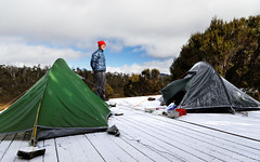 20131206-03-Frozen campsite.jpg (Roger T Wong) Tags: camp snow cold ice trek nationalpark frost walk australia tent hike tasmania np bushwalk microlight tramp wallsofjerusalem macpac canonef24105mmf4lisusm canon24105 canoneos6d