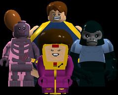 Oddballs (Evan (911Bug911)) Tags: lego herman blob minifigs marvel glob modok gorillaman minifigures