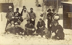WW1 Christmas 1916 (Aussie~mobs) Tags: aif anzac soldiers rr snow snowman firstworldwar war lestweforget aussiemobs
