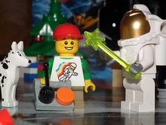 Day 18 (Paranoid from suffolk) Tags: boy dog advent calendar lego spaceman minifigs minifigures 2013