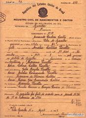 Certidão Nascimento Amelia 1934