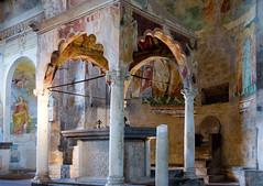 Ciborium (Patrick Costello) Tags: italy church architecture interior altar romanesque tuscania lazio frescoes apse ciborium vierbo chiesadismariamaggiore