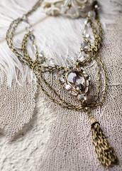 N-3316 (Kotomi_) Tags: vintage necklace costume handmade style jewelry medieval jewellery collection polymerclay historical period byzantine springsummer naturalstone semiprecious 2014  kotomi    kotomiyamamura kotomijewellery