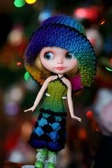 Blythe rainbow hat