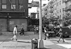 Harlem Street - Street Series #4, New York City (Nico Geerlings) Tags: leica city nyc newyorkcity people blackandwhite bw usa ny newyork monochrome 35mm photography mono town us mood boulevard harlem manhattan candid streetphotography atmosphere rangefinder summicron dailylife streetscenes reallife westharlem malcomx humancondition streetstreet blackandwhitephotos malcomxblvd lenoxavenue blackwhitephotos mygearandme nicogeerlings leicammonochrom
