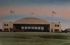 Suffolk Airport, Westhampton, Long Island, New York (Guy Clinch) Tags: airplane airport postcard biplane