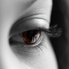 Brown Eye (@noutyboy (Instagram)) Tags: bw brown macro reflection eye art monochrome photoshop canon eos is zwartwit 100mm l 28 f28 oog 550 nout 550d canon100mm28lismacro eos550d noutyboy