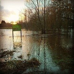 Today's walk with the dogs to the local field was blocked slightly. #COVEBROOK has flooded a little and is now Cove Lake. (Wayne Cappleman (Haywain)) Tags: uk square photography cove wayne hampshire squareformat hefe farnborough haywain cappleman iphoneography instagramapp uploaded:by=instagram