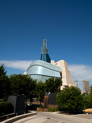 Canadian Museum of Human Rights (creditflats) Tags: blue sky canada museum winnipeg manitoba human rights forks candian cmrh