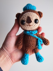 Dr Shellington (ham_and_eggs) Tags: sea animal toy doll character crochet cartoon otter aquatic amigurumi theoctonauts