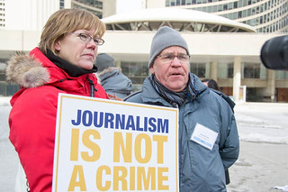 Journalism is not Crime - Global Day of Action - Feb. 27