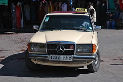 Grand Taxi (Linas G) Tags: africa city history square mercedes town traffic taxi grand morocco marrakech medina historical marrakesh oldtown