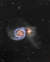 M51 / Arp 85  - The Whirlpool Galaxy #Explored (...Swag Astro (www.swagastro.weebly.com)) Tags: sky stars space astro whirlpool galaxy astrophotography astronomy m51 galaxies universe arp cosmos deepspace dso deepsky atik sarawager