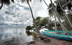 Clouds at Sea _1506 (hkoons) Tags: ocean trees sea tree beach palms mexico boats bay countryside boat town fishing sand village country craft vessel lagoon palm salty tabasco fishingboat vessels golfofmexico delcarmen sánchezmagallanes stateoftabasco