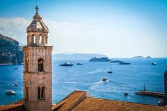 Church and Yachts (jcwolfe00) Tags: ocean blue sea church water beautiful port boats coast view yacht croatia yachts dubrovnik oldcity adriatic