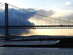 Cloudy Sunset at the Forth Road Bridge (B4bees .(2m views)) Tags: scenery fife visiteastscotland nqueensferryscotland