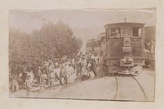 [Group of Men Standing by Locomotive 4, La Guaira and Caracas Railway] (SMU Central University Libraries) Tags: men workers trains locomotives railroads lgc zigzagstation laguayra laguairaandcaracasrailway ferrocarrillaguairaycaracas