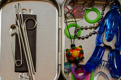 Knitting Notions (YvonneKnitsKnots) Tags: knitting scissors needles markers day78 notions 3652014 365the2014edition 19032014