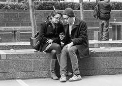 Two of a Kind (John Fraissinet) Tags: park street nyc newyorkcity ny newyork couple sony streetphotography cellphone nex7