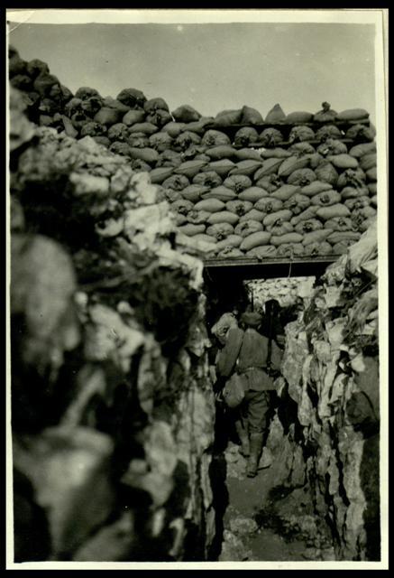 Monte Sabotino: un nostro camminamento, Reparto fotocinematografico dell'Esercito, Roma, Museo Centrale del Risorgimento