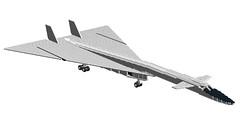 XB-70 Valkyrie 1 (Kurt's MOCs) Tags: lego north sac american usaf valkyrie moc ldd xb70
