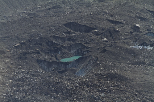 dreckiger Gletscher von oben