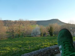 Put your foot in it (eltpics) Tags: green rural view relaxing ing trainer putyourfeetup idioms eltpics